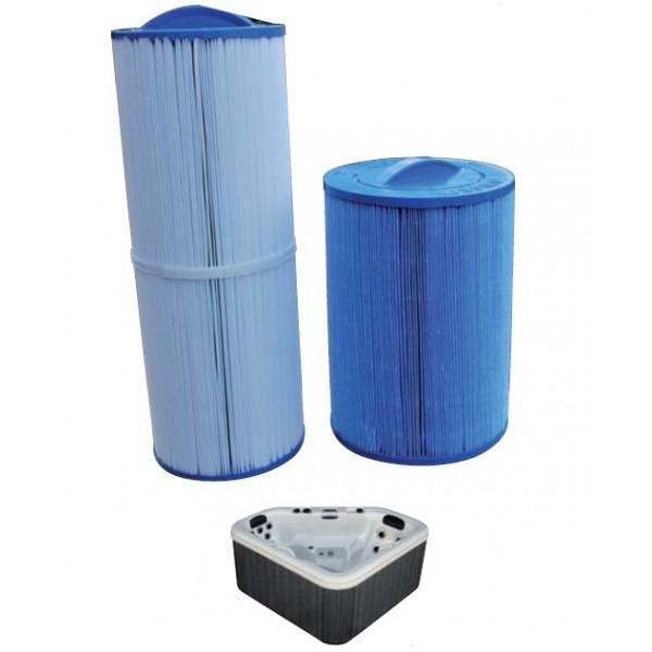 Cartouche filtrante spa gl 300 400 et 500 2009 haut for Cartouche de filtration pour piscine