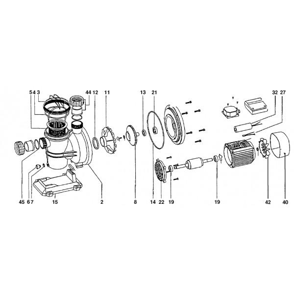 Joint torique de corps de pompe pour pompes silen for Pieces detachees pompe piscine