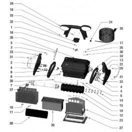 Roulette longue guide chenille