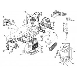 Roulement chenille moteur intérieur