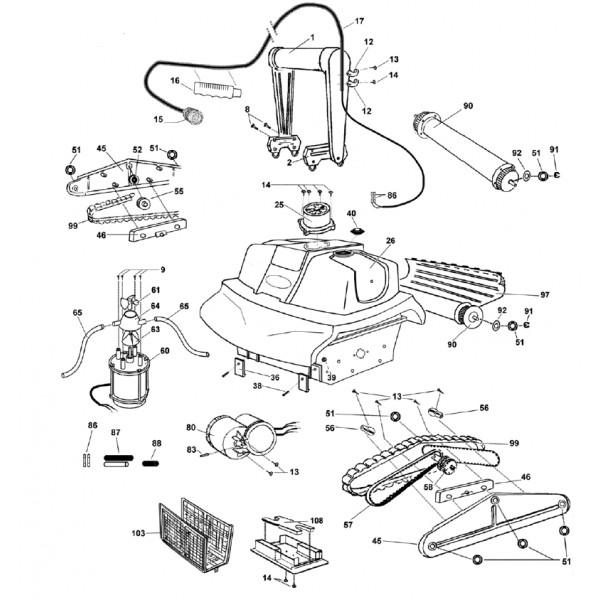 courroie pour turbo elite turbo elite pi ce pour robots lectriques. Black Bedroom Furniture Sets. Home Design Ideas