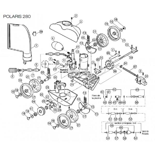 Vanne de recul pour polaris 280 polaris pi ce pour for Robot piscine polaris 280 fiche technique
