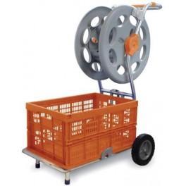 Chariot de rangement accessoires piscine et enrouleur for Accessoires piscine 54