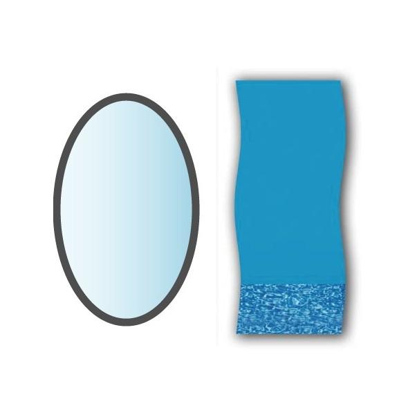 Liner swirl forme ovale x piscine hors sol for Epaisseur liner piscine