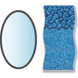 Liner boulder forme ovale x piscine hors sol for Liner piscine hors sol ovale albatica