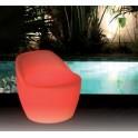 Fauteuil lumineux LED, assise de 55cm