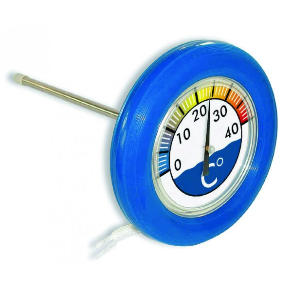 Thermom tre rond bou e flottant for Thermometre piscine original