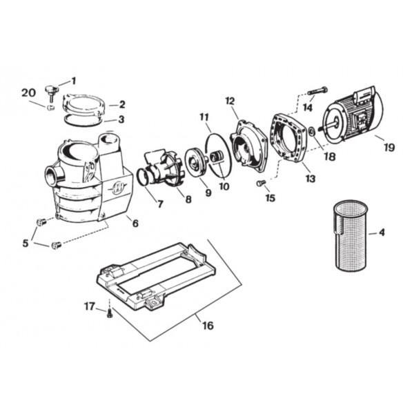 presse toupe pompe hayward max flo sp1822. Black Bedroom Furniture Sets. Home Design Ideas