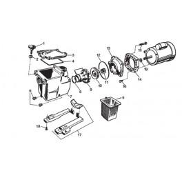 Turbine 1,5 CV  Pompe Hayward Super Pump SP2616