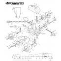 Rondelle de roue plastique Robot Polaris 180