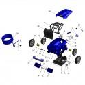 Support brosse EC complet Robot Zodiac VORTEX 3 / VORTEX 4