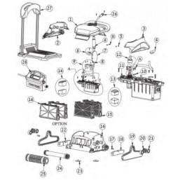 Brosse mousse tout tube Robot Maytronics ZENIT 10