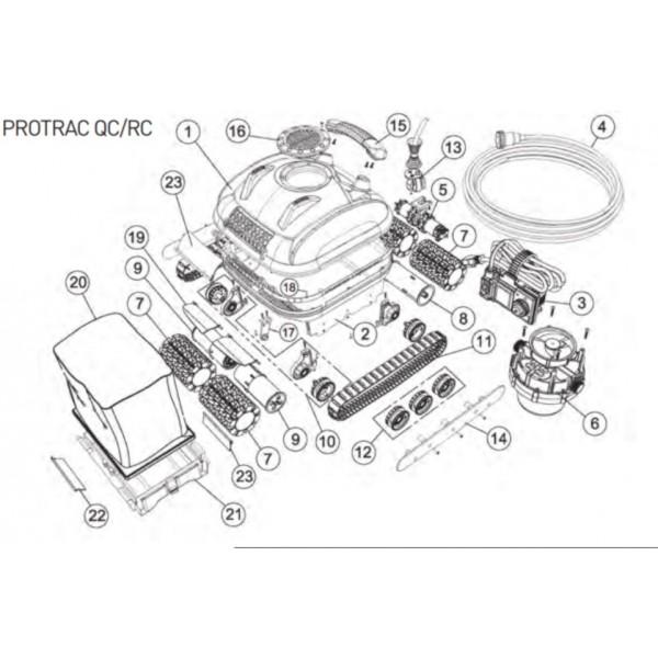 Transformateur Pour Protrac Qc Robot Smartpool Protrac Qc Rc