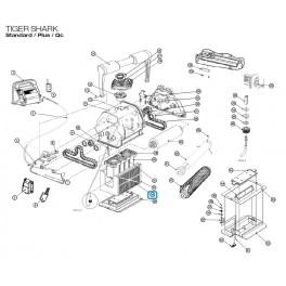 Support élément filtrant  Robot Hayward TIGER SHARK Standard / Plus / Qc