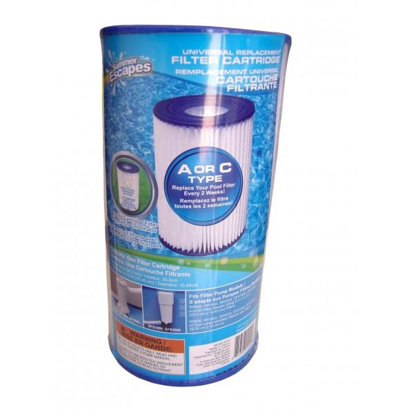 Cartouche universelle pour filtre pompe de piscine for Cartouche filtrante pour piscine