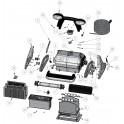 Pochette accessoire presse étoupe Robot Zodiac Black Pearl