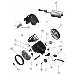 Bloc moteur complet  Robot Zodiac Vortex 1