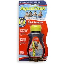 50 bandelettes Aquachek test pour eau piscine et spa traitée au Brome