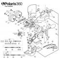 Tuyau d'allimentation 30CM pour robot Polaris