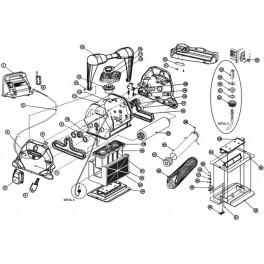 Roulement de chenille extérieur  Robot Hayward TIGER SHARK Standard / Plus / Qc