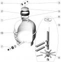 Crépines 3/4 (x2) (L.225 d.26 mm) filtre sable AstralPool CANTABRIC SIDE D400