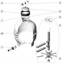 Crépines 3/4 (x2) (L.225 d.26 mm) filtre sable AstralPool CANTABRIC SIDE D500
