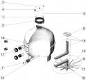 Couvercle transparent Avec Joint filtre sable AstralPool CANTABRIC SIDE D900