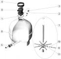 Raccord union de crépine 3/4'' - sachet de 4 filtre sable AstralPool CANTABRIC TOP D750
