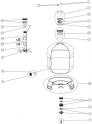 """Cone Diffuseur 2"""" - 21/2 filtre sable AstralPool ATLAS"""