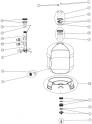 Joint de Traversée Plat (2 Pces) 73x16 Mm filtre sable AstralPool ATLAS