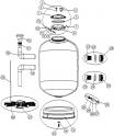 Boulon plastique conique de vidange filtre sable AstralPool BERING D600