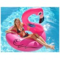 Flamant rose géante bouée gonflable Kerlis