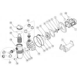 Garniture mécanique pour pompe Challenger Pentair