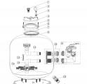 Crépine pour P500-P700 (126mm) -à l'unité (VIPool) ACIS VIPool Side SB15