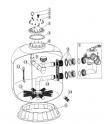 Couvercle gris (sans réduction manomètre) 12 trous entraxe 250 mm FSAB SB20 et 30 (Acis) ACIS VIPool Side SB33