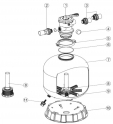 Bride de filtre a sable VIPool/Cristaline  (ACIS) ACIS VIPool Top FT15