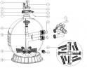 21-28 base du filtre  P500/ P650/ P700 EMAUX MAX FLOW MFS Series