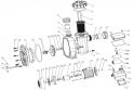 Flasque arrière 0,50 à 1,5 CV ACIS MCQ33 - 0,33cv