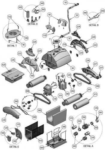 Courroie de traction à l'unité pour robots Aquatron - REMPLACE 3302KR et 971214 AstralPool GALEON FL