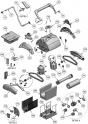Rouleau support de brosse medium Gris pour robots Aquatron (Astral) AstralPool GALEON RC
