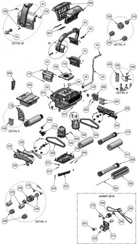 Hélice de moteur de pompe pour robots Aquatron AstralPool HURRICANE H5
