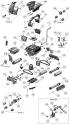 Rouleau support de brosse medium Gris pour robots Aquatron (Astral) AstralPool HURRICANE H7