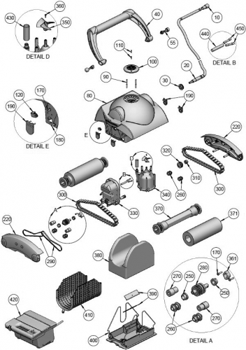 Roulement Nylon pour robots Aquatron (Astral) AstralPool FLAMINGO