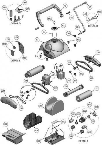 Roue guide pour robots Aquatron AstralPool FLAMINGO